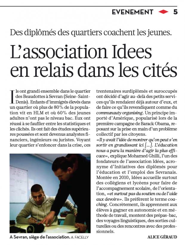I.D.E.E.S sur Libération !
